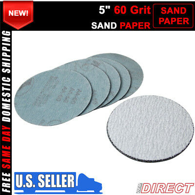10PC 5Inch 127mm 60 Grit Auto Sanding Disc Body Collision Repair Sand Paper