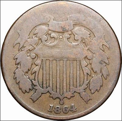 *HHC* Two Cent Piece 2c, 1864 Large Motto LM (SKU #US1-109)