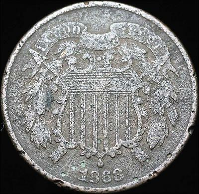 *HHC* Two Cent Piece 2c, 1868, Free Shipping! (SKU #71.05)