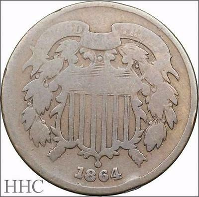 Two Cent Piece 2c, 1864 (SKU #US4-37)