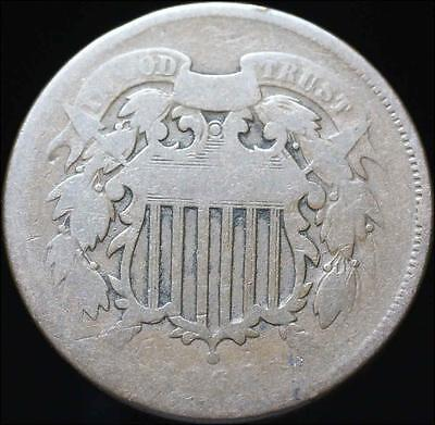 *HHC* Two Cent Piece 2c, 1864 LM Large Motto. Free Shipping! (Inv #90.18)