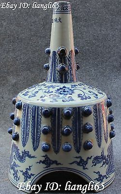 Chinese Porcelain Fenghuang Fung-hwang Phoenix Flower Ding Tripod Bell Statue