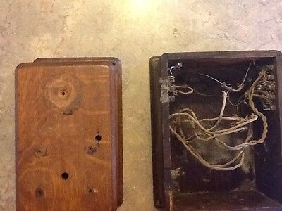 Antique Wood Telephone Box--Nice Condition