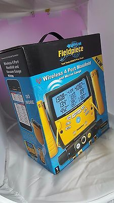 Fieldpiece SMAN460 Wireless 4-Port Digital Manifold with Vacuum Gauge - NEW