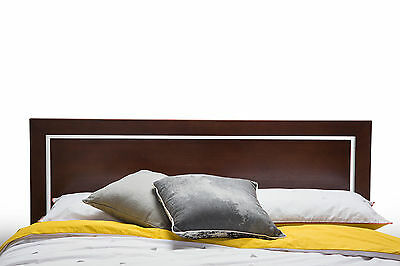 New Modern Contemporary Walnut Ash Timber Wood Double Size Headboard Bed Head