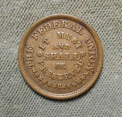 Civil War Patriotic 224/322 The Federal Union Must And Shall Be Preserved R-2