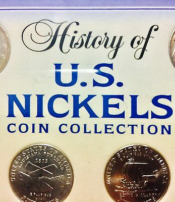 History of US Nickels Coin Collection with 1902 V Nickel & 1936 Buffalo Nickel