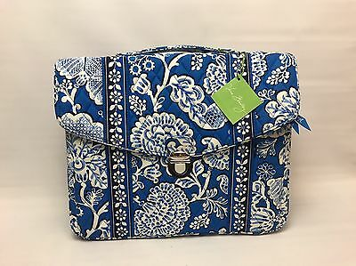 Vera Bradley Retired Blue Lagoon  Laptop Tablet Attache Briefcase Bag *NEW*