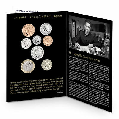 2015 Royal Mint Fifth Portrait First Edition 8 Coin BU Brilliant Uncirculated