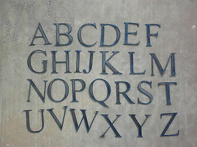 3 inch Times New Roman Metal Letters Complete Alphabet Stencil Rough Rusty