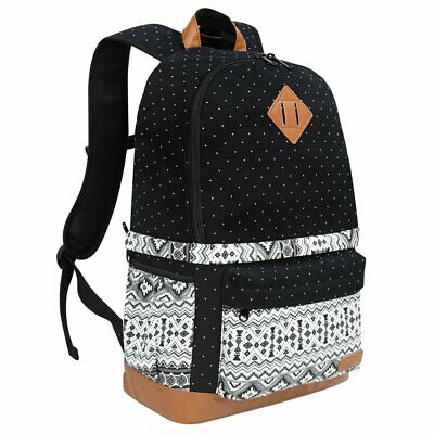 Lady's Casual Canvas DSLR Camera Bag Insert Case Travel Backpack For Canon Nikon