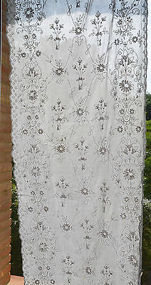 An antique, 19th century French tambour lace curtain for re-work.