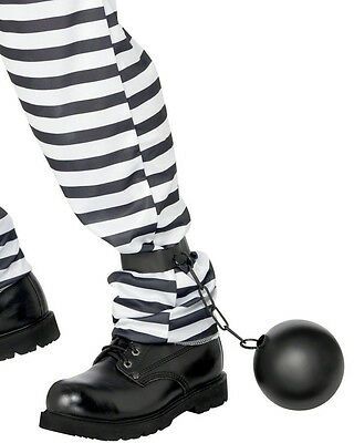 Ball And Chain Costume Accessories Convict Prisoner Bucks Stag Night Wedding NEW