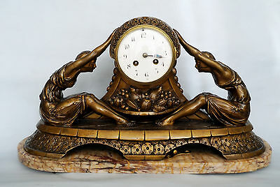Jacques Limousin   Art Deco  FRANZÖSISCHE TISCH  KAMIN  UHR   french table clock
