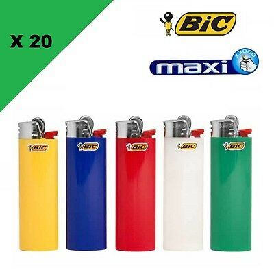 Lot de 20 Briquet BIC Maxi Grand Modèle J26 Lighter briquets grand bic