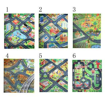 Kids Traffic/City/Farm/Fire/Engineering/Racing Car Scene Play Mat Crawl Rug Toy