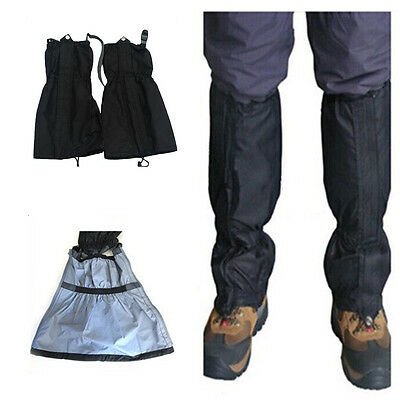 2X Durable Waterproof Outdoor Leg Cover Boot Climbing Snow Ski Legging Gaiters