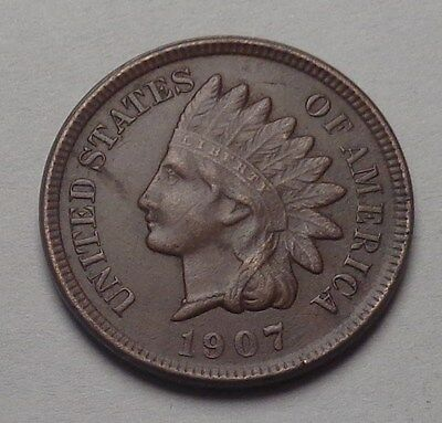 1907 Indian Head Cent,full Liberty,diamonds,very Nice Coin!!!(J)