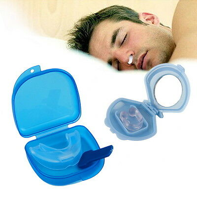 Anti Snore Sleep Apnea Mouthpiece Tray Stopper Mouthguard Stop Snoring FT