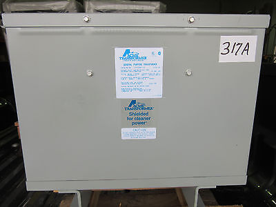 Acme T-3-53361-1S Transformer 15 KVA Primary 240 Delta Secondary 208Y/120 VGC!!!