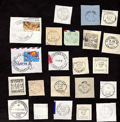 AUSTRALIA POSTMARKS On Piece For Collecting & Scrapbooking