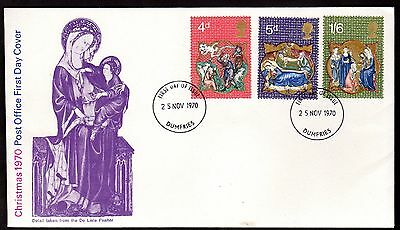 First Day Cover ~ CHRISTMAS XMAS ~ 1970 Postmarked DUMFRIES Scotland