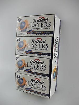 Trident Layers Gum, EXOTIC Juicy Berry + TANGY Tangerine, 12 Collectors Packs