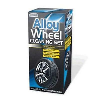 ** Car Pride Alloy Wheel Cleaning Set  New ** Contains Cloth Cleaner & Brush