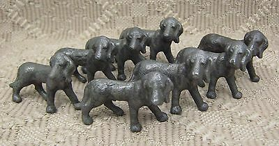 Hubley cast iron blood hounds, lot of 8