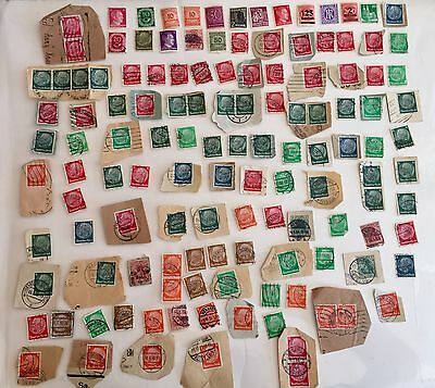 Lot Of Over 100 Old German Stamps
