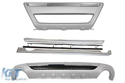 Skid Plates Volvo XC60 08-13 Facelift Look Bumper SkidPlates+Side Skirts