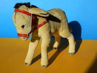 Steiff Vintage 1950-58 Firm Bodied Velvet Donkey 5 Inches No Ids (1412-00)