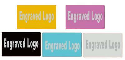 Engraved Tags Metal Name Card 1-100pcs Customized Plate Plaque Label Safety Sign