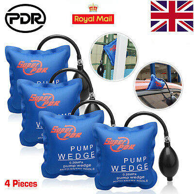 4x Air Wedge Pump PDR Up Tool Inflatable Bag Automotiv Entry For Car Window Door