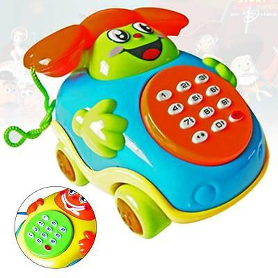 Fun Musical Educational Cartoon Phone Developmental Music Toy for Baby Kids P^