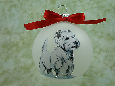 D059 Hand-made Christmas Ornament- West Highland White Terrier Westie - standing