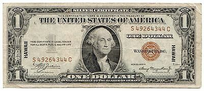 Fr.2300 1935A $1 Hawaii Note, Nice Small Silver Certificate Brown Seal [3090.06]