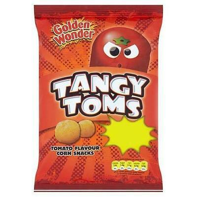 Golden Wonder Tangy Toms Tomato Flavour 28g (full case of 36)