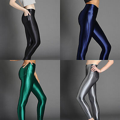 NEW American Style Apparel Shiny High Waisted Stretchy Disco Pants Leggings