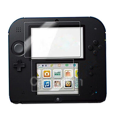 Clear Transparent LCD Screen Protector Guard Shield Film +Cloth For Nintendo 2DS