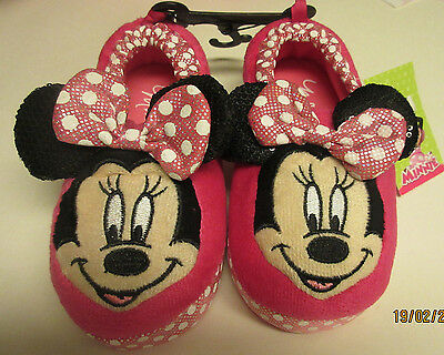 NWT Toddler Girls Disney Slippers Minnie Mouse Pink 9/10 11/12 13/1 XL XXL