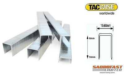 TACWISE 140 TYPE STAPLES x 2 BOXES 2,000 6-14MM
