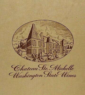 Vintage CHATEAU STE MICHELLE Box - Washington State Wines - Display Box Only