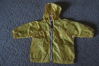 Tommy Hilfiger Toddler Boys Bright Yellow Windbreaker Size 18-24 Months Euc!