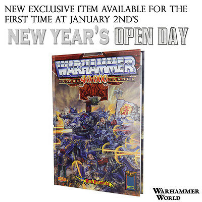 OOP EVENT ONLY Limited Edition Warhammer 40k Rogue Trader Book - Rick Priestley