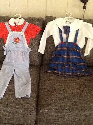 Vintage 1960s-70s Girls Outfits Sz 5 Lot 2