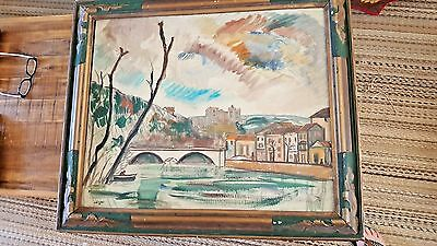 "VERY NICE - Leon La Fourcade Oil On Canvas (29"" x 24"") - With Original Frame"