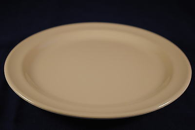 "4 Dz   New Melamine US108  8"" Round Dinner Dessert Plate (Tan/White)DP-508"
