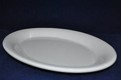 "1 Dz New Heavy Melamine Oval Plate 9-1/2""X7"" Wide Rim White  12PC  Free Shipping"