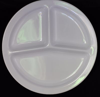 "NEW 10""   3 Section Divided Round Restaurant Plates 48 PC (White) US 2611"